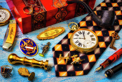 Photograph - My Elegant Father's Items by Garry Gay