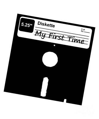 Digital Art - My First Time Retro 80s Floppy Disk by Flippin Sweet Gear