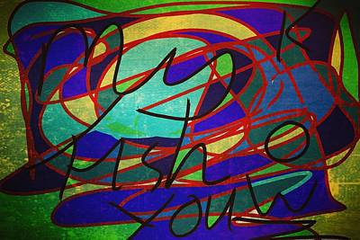 Digital Art - My Fish Knowz You by Samuel Pye