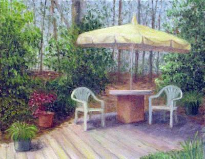 Painting - My Garden Rest Spot by Jean Ehler