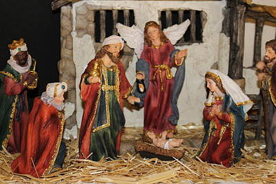 Photograph - My German Traditions - Christmas Nativity Scene by Colleen Cornelius
