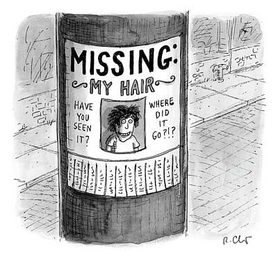 Drawing - My Hair by Roz Chast