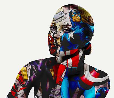 Mixed Media - My Hero by Marvin Blaine