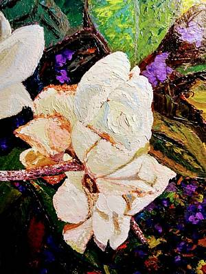 Painting - My Impasto Flowers by Ray Khalife