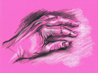 Drawing - My Left Hand by MM Anderson