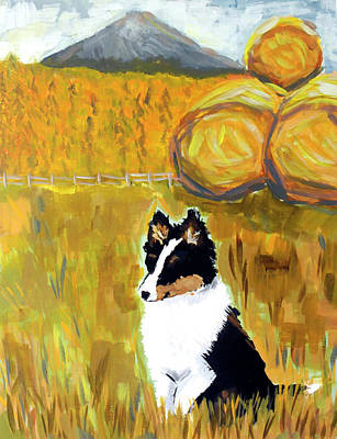 Wall Art - Painting - My Lil' Sheltie  by Kaley Alie