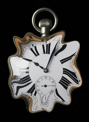 Photograph - My Melting Clock by Garry Gay