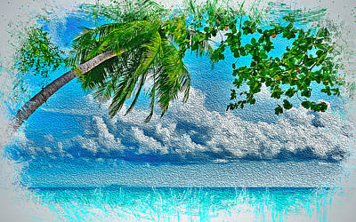 Painting - My Tropical Heaven - 01 by Andrea Mazzocchetti