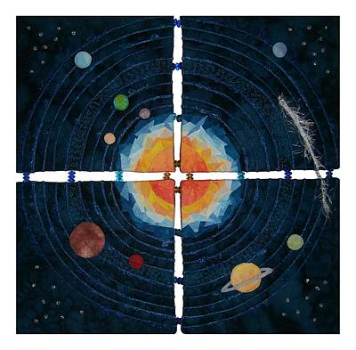 Tapestry - Textile - My Very Educated Mother  Just Said Uh-oh, No Pluto by Pam Geisel