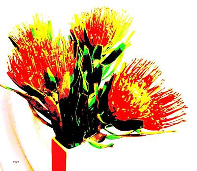 Photograph - My Waratah Birthday by VIVA Anderson
