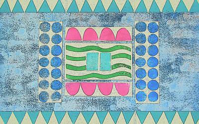 Mixed Media - Myobi Tribal Rug by Strangefire Art Scylla Liscombe