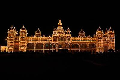 Karnataka Photograph - Mysore Palace Lit Up by Clicked Kumar Rr