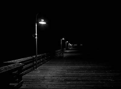 Photograph - Mysterious Pier At Night by John Daly