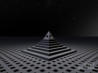 Digital Art - Mysterious Pyramid by Phil Perkins