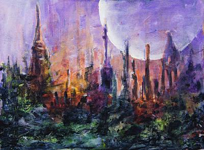 Painting - Mystery Garden by Yulia Kazansky