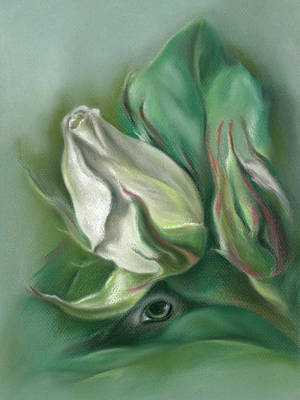 Pastel - Mystery In The Rose Garden by MM Anderson