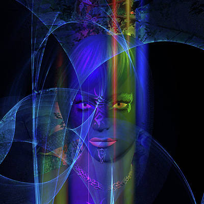 Digital Art - Mystic Alien Woman by Judi Suni Hall