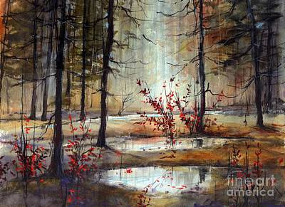 Asheville Wall Art - Painting - Mystic Forest by Suzann's Art