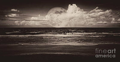 Photograph - Mystic Moon In Sepia by Judy Hall-Folde