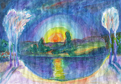 Painting - Mystical Dawn by Irina Dobrotsvet