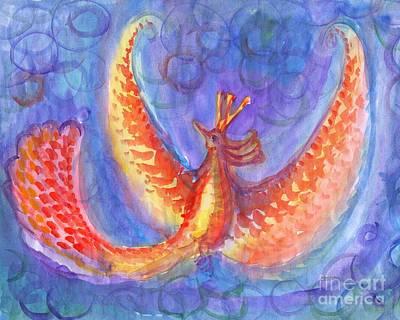 Mystical Phoenix Art Print