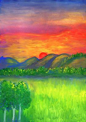 Painting - Mystical Red Sunset by Irina Dobrotsvet
