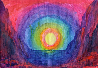 Painting - Mystical Sunset by Irina Dobrotsvet