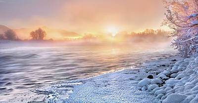 Photograph - Mystical Winter Morning by Leland D Howard