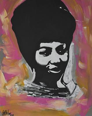 Painting - Mz Franklin by Antonio Moore
