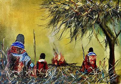 Painting - N-198 by John Ndambo