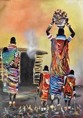 Painting - N-210 by John Ndambo
