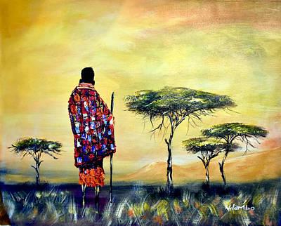 Painting - N-214 by John Ndambo