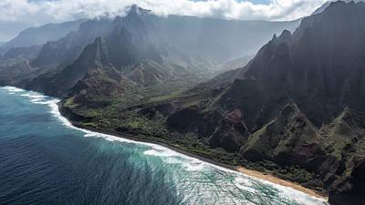 Photograph - Na Pali Coast By Air, No. 3 by Belinda Greb