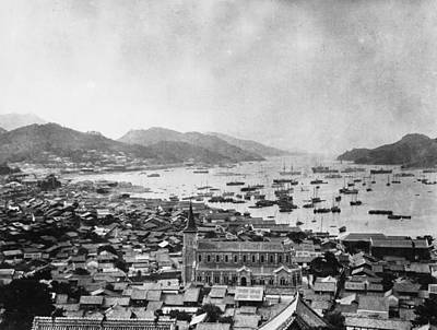 Nagasaki Harbour Art Print by Topical Press Agency
