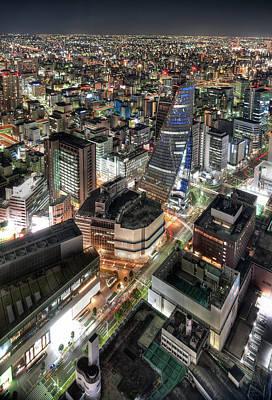 Photograph - Nagoya Skyline by Greg Benz