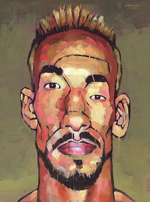 Sports Paintings - Nakata 1 by Douglas Simonson