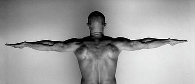 Photograph - Naked Muscluar Man Standing With Arms by Isabella Wirth