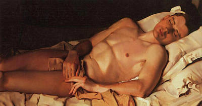 Painting - Naked Young Man - B. Snezhkovsky by Konstantin Somov