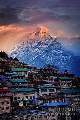 Photograph - Namche Among The Giants by Scott Kemper