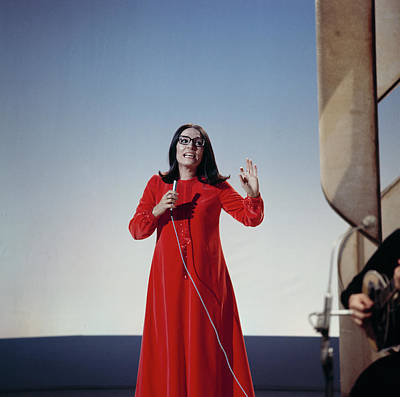 Photograph - Nana Mouskouri Performs On Tv Show by David Redfern
