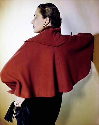 Photograph - Nancy Hawks In A Trigere Coat by Horst P. Horst
