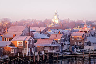 Photograph - Nantucket Sunrise Townscape by J. Greg Hinson, Md, Www.ackdoc.com