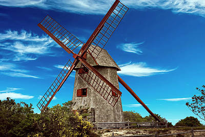 Photograph - Nantucket Windmill Series 7161 by Carlos Diaz