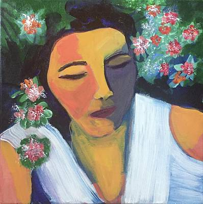 Painting - Nap In The Garden by Cherylene Henderson
