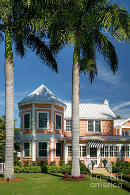 Photograph - Naples Florida Coral Cottage by Brian Jannsen
