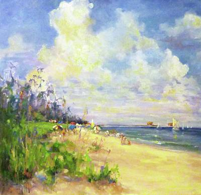 Wall Art - Painting - Naples Pier by Kathryn McMahon