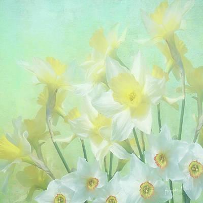 Wall Art - Mixed Media - Narcissus by Amanda Lakey