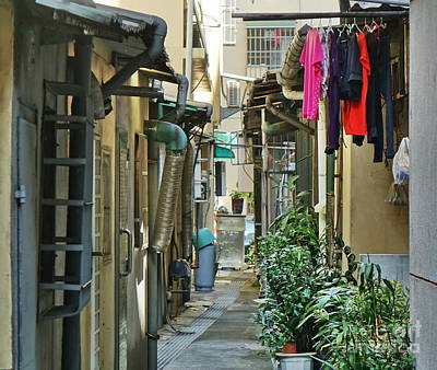 Photograph - Narrow Alley In Taiwan by Yali Shi