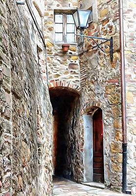 Photograph - Narrow Entrance Pienza by Dorothy Berry-Lound