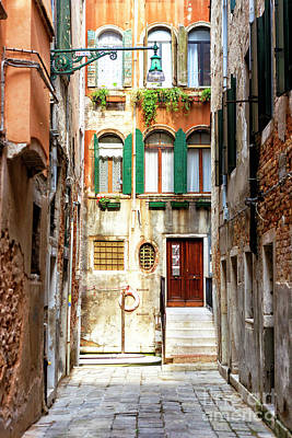 Photograph - Narrow Street In Venice by John Rizzuto